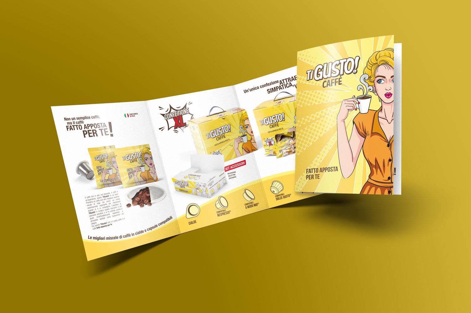 Ti Gusto Caffè - Design by Delfi & Partners Adv