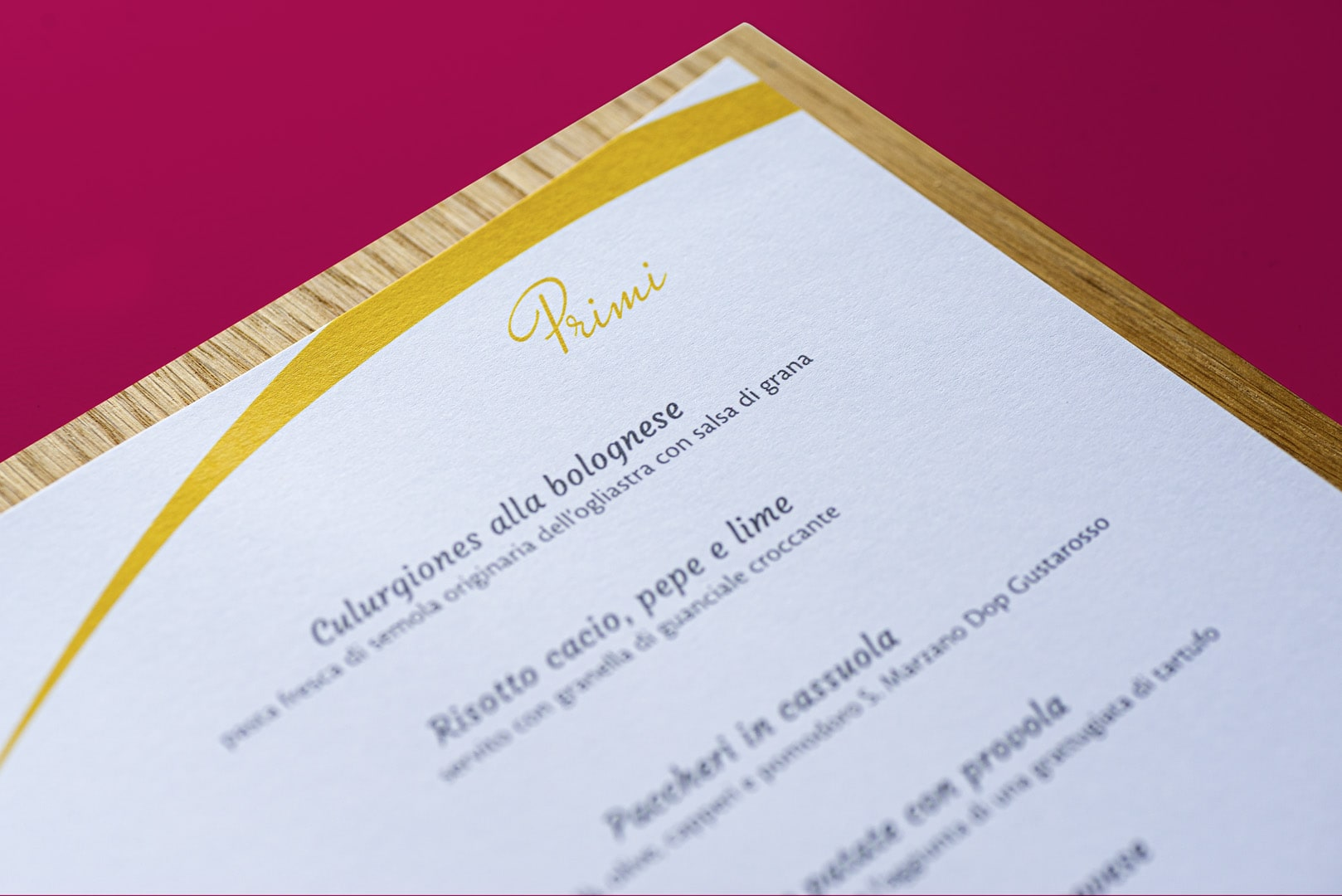 Panciallegra Restaurant - Menu design by DelfiAdv.it